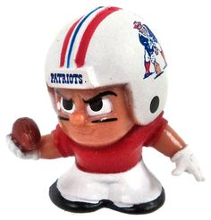 NFL TeenyMates Series 3 Wide Receivers New England Patriots Minifigure [Throwback]