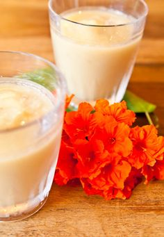 Pineapple Banana & Coconut Cream Smoothie by loveveggiesandyoga #Smoothie #Pineapple #Coconut