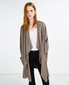 Image 3 of FLOWING TRENCH COAT from Zara
