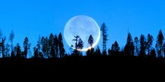 THE BLUE MOON 10x20 Panoramic Landscape Fine by TheCharmingPrints, $14.99