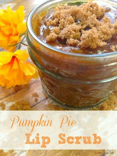 Pumpkin Pie Lip Scrub DIY recipe - So simple and economical and your lips will LOVE it!