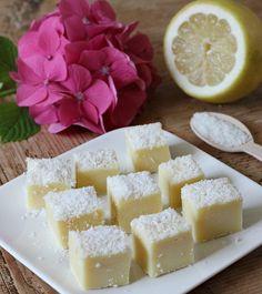 Witte chocolade citroen fudge met kokos! | Happy food - Life By Rosie