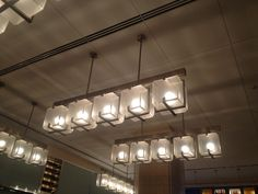 Love these light fixtures!