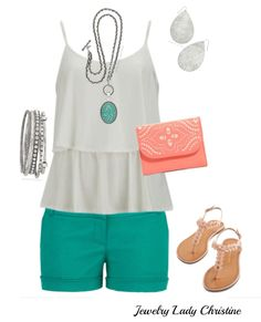 You can dress up shorts and a tank with Premier Designs.- Jewelry Lady Christine