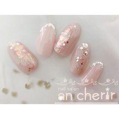 ネイル ネイル in 2020 So Nails, Feet Nails, Nail Manicure, Pink Nails, Pretty Nails, Pretty Nail Designs, Gel Nail Designs, Japan Nail Art, Simple Wedding Nails