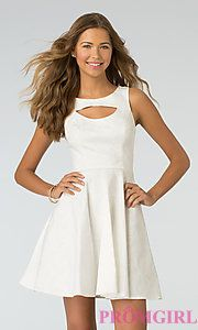 Buy Short High Neck Dress by XOXO at PromGirl