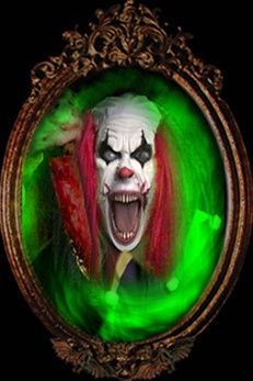 KILLER CLOWN MIRROR ILLUSION from The Horror Dome would scare the bejesus out of everyone.