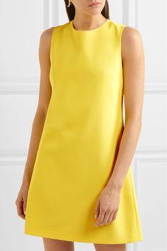 Alice + Olivia | Coley crepe mini dress | NET-A-PORTER.COM