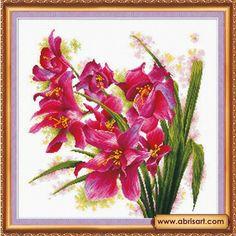 Лиловые орхидеи AH-003