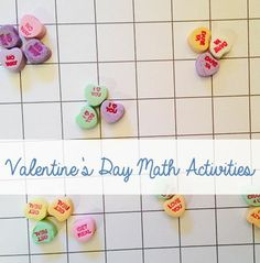 Use conversation hearts for these fun #math activities! Our #LearningToolkit #parents blog has the details. #STEM