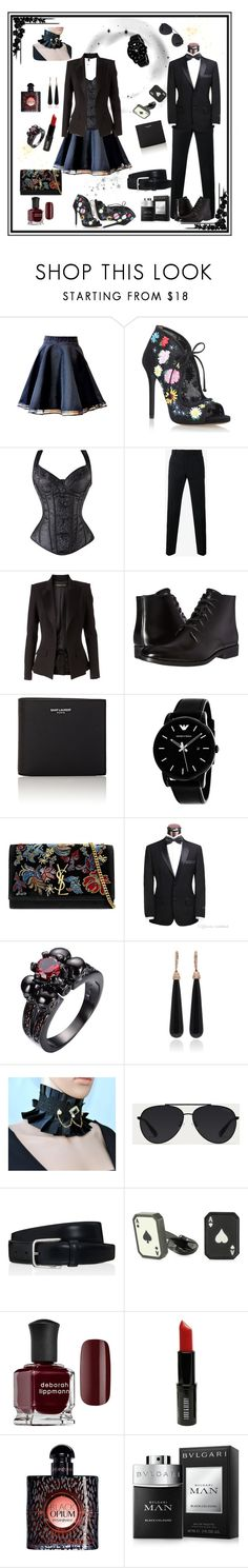 Mrs and Mr by black-passion on Polyvore featuring Alexandre Vauthier, Tabitha Simmons, Yves Saint Laurent, SUSAN FOSTER, Dolce&Gabbana, Bulgari, Calvin Klein, Tod's, Giorgio Armani and Paul Smith