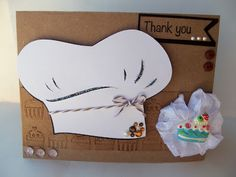 Kiss the Cook! Chef Hat Thank you Card!  From DoubleClick Blog