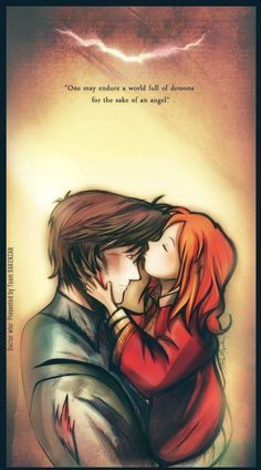 The 11th Doctor and Amelia Pond.