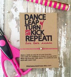Dance Team Gift, Dance Team, Dance Party Favors, Dance Bracelet, Dance Wish Bracelet, Wish Bracelet, Dance Team