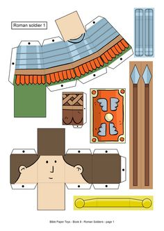 My Little House: Bible Paper Toys - Book 9 - Roman Soldiers