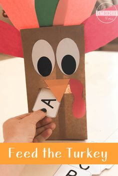 Feed the Turkey Educational Activity free printable turkey kindergarten math numbers counting addition sight words alphabet shapes Thanksgiving Activities For Kids, Fall Preschool, Thanksgiving Crafts For Kids, Preschool Crafts, Thanksgiving Craft Kindergarten, November Preschool Themes, Toddler Preschool, Toddler Activities, Turkey Kindergarten