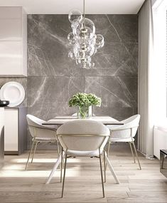 Get inspired by these dining room decor ideas! From dining room furniture ideas, dining room lighting inspirations and the best dining room decor inspirations, you'll find everything here! Room Interior Design, Dining Room Design, Dining Rooms, Modern Dining Room Furniture, Contemporary Dining Chairs, Modern Contemporary, Modern Design, Luxe Decor, Bubble Chandelier