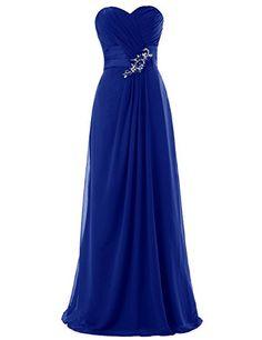 Dresstells® Long Chiffon Dress with Beadings Bridesmaid Dresses Wedding Dress Royal blue Size 2 Dresstells http://www.amazon.com/dp/B00M9501VC/ref=cm_sw_r_pi_dp_T-yqvb0N2Z4MP