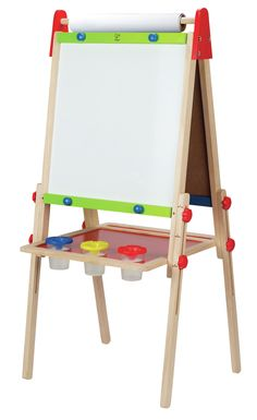 Discounted Kids Easel with Paper Roll +FREE Kids Art Supplies - Double Sided Childrens Easel Chalkboard/Magnetic Dry Erase Board - Toddler Easel with Storage Bins Wooden Art Easel for Kids Painting and Drawing Wooden Easel, Wooden Art, Wooden Toys, Painting For Kids, Drawing For Kids, Art For Kids, Tableau Double Face, Toddler Easel, Kids Art Easel