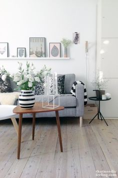 Mid-century coffee table and picture ledge