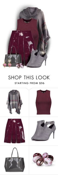 """Plum, Grey, & Patent"" by majezy ❤ liked on Polyvore featuring T By Alexander Wang, Valentino, WithChic, DKNY, Bling Jewelry and AZ Collection"