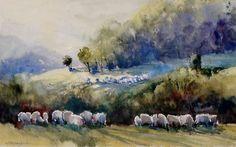 Suha Reka Grazing Painting by Sandra Strohschein
