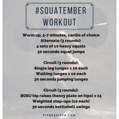 Squatember workout challenge! Stronger leaner legs this fall. fitnessista.com
