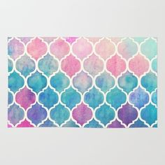 Rainbow Pastel Watercolor Moroccan Pattern Rug ($58) ❤ liked on Polyvore featuring home, rugs, backgrounds, moroccan pattern rug, rainbow rug, watercolor rug, pastel rug and pastel area rugs