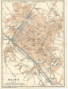 Poster Reims France Minimalist Map - City Map | Illusztrációk ...