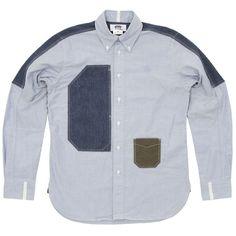 comme des garcons junya watanabe man x brooks brothers oxford shirt ...