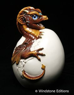 Brown Dragon Hatchling by Windstone Editions
