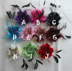 purple flower for Bridal Hats $2.99 each Ebay
