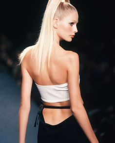 90s Fashion, Runway Fashion, High Fashion, Kirsty Hume, Original Supermodels, Jean Paul Gaultier, Malta, 1990s, Catwalk