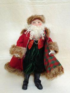 cloth art doll:Traditional Father Christmas £70.00