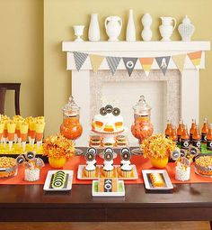 Host a candy corn inspired Halloween party | Kim Byers, TheCelebrationShoppe.com (see in Better Homes & Gardens Halloween issue)