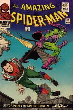 Portada clásica de SpiderMan, por John Romita