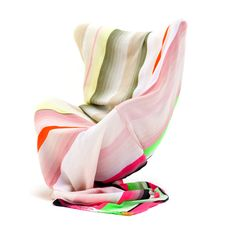 Merino Throw 70.9x55 Pink Multi