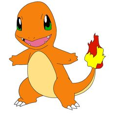 Fire starters:   This is a fire starter his name is charmander.He evolves into charmeleon then charizard.He is a lizard pokemon.