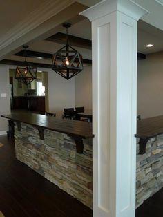 Basement remodel. www.macombstairs.com www.probuiltwoodworking.com