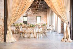 Wedding: Blush Garden Arrangements and Fern Installations at Mt. Washington Mill Dye House in Baltimore, Maryland » Sweet Root Village Blog