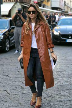 On the street at Milan Fashion Week. Photo: Emily Malan/Fashionista.