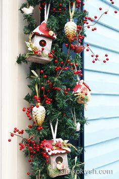 birdhouses 2011 by kirakoktyshcom - Bird House Christmas Decoration