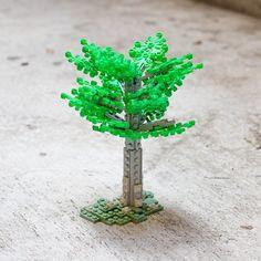 Green Lego tree by Carson Hart