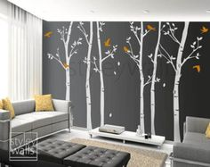 Cherry Blossom Branch and Birds Wall Decal Cherry by styleywalls