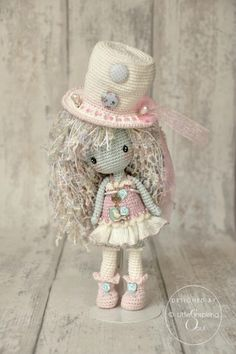 shabby crochet doll - no pattern