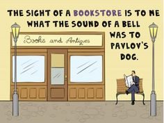 The sight of a bookstore...