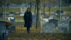 Beautiful Contemplative Woman in cemetery Stock Video Footage - VideoBlocks