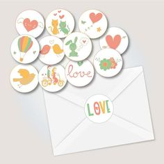 Valentines Day stickers Party supplies Planner Stickers
