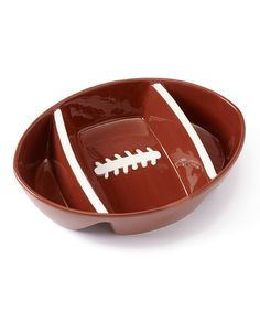 Another great find on #zulily! Brown Football Platter by Design Imports #zulilyfinds