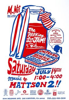 Come to the M.Nii Parking Lot Jam this Saturday at Ron Herman on Melrose! in Typography
